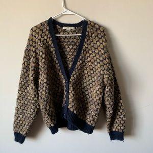 Sweaters - Vintage 90s grunge Kurt contain mohair cardigan